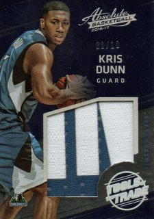 2016-17 PANINI Absolute Patch Jumbo Rookie Materials Kris Dunn 【10枚限定】 / MINT池袋店 サクラメント様