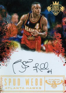 2016-17 PANINI Court Kings 5 x 7 Box Topper Autographs Spud Webb / MINT池袋店 ヨッシー様