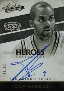2016-17 PANINI Absolute Heroes Autographs Tony Parker 【60枚限定】 / MINT池袋店 パズ・ライトイヤー様