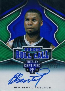 2016-17 PANINI TOTALLY CERTIFIED Rookie Roll Call Autographs Blue Ben Bentil 【99枚限定】 / MINT新宿店 ジャズ様