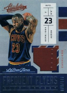 2016-17 PANINI ABSOLUTE Frequent Flyer Materials LeBron James 【149枚限定】 / MINT新宿店 ジャズ様