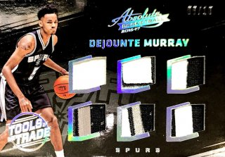 2016-17 PANINI ABSOLUTE Tools of the Trade Jumbo Rookie Six Patch D.Murray 【10枚限定】 / MINT新宿店 シン・ゴジラ様