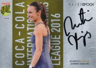 2016 EPOCH IPTL Authentic Signatures Martina Hingis【22枚限定】/ MINT池袋店 守護神ウォーレン様