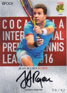 2016 EPOCH IPTL Authentic Signatures Jean-Julien Rojer【92枚限定】/ MINT池袋店 Bakassi様