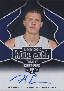 PANINI  2016-17 TOTALLY CERTIFIED BASKETBALL AUTO HENRY ELLENSON/HOTBOX/PG13様