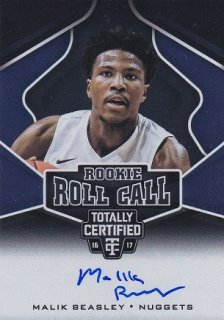 PANINI  2016-17 TOTALLY CERTIFIED BASKETBALL AUTO MALIK BEASLEY/HOTBOX/PG13様