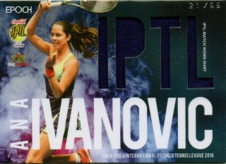 2016 EPOCH IPTL Match Worn Shirts Ana Ivanovic【99枚限定】/ MINT池袋店 Bakassi様