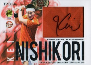 2016 EPOCH IPTL Signed Match Worn Shirts Kei Nishikori【15枚限定】 / MINT池袋店 ポイズン様