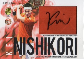 2016 EPOCH Iptl AUTHENTIC SIGED Match Worn Shirt KEI NISHIKORI【15枚限定】ホビーゾーン広島 トオル様