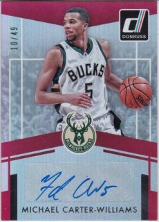 16/17 PANINI DONRUSS ELITE SIGNATURES Michael Carter -Williams【49枚限定】/MATCHUP V 様