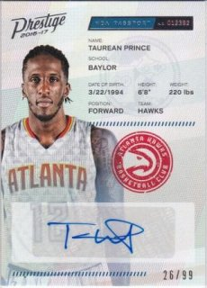 16/17 PANINI PRESTIGE NBA PASSPORT SIGNATURES Taurean Prince【99枚限定】/MATCHUP GP 様