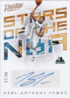 16/17 PANINI PRESTIGE STARS OF THE NBA SIGNATURES Karl Anthony-Towns【49枚限定】/MATCHUP FF 様