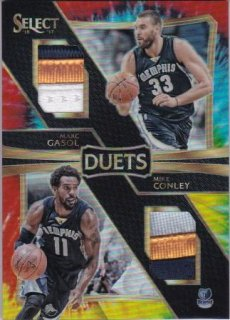 16/17 PANINI SELECT DUETS TIE-DYE PRIZMS Gasol&Conley 【49枚限定】/MATCHUP 宮下 様