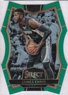 16/17 PANINI SELECT GREEN PRIZMS DIE-CUT James Ennis【5枚限定】/MATCHUP 2 様