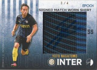 EPOCH/AUTHENTICA 2016/17 INTER Signed Match Worn Shirt Yuto Nagatomo 【4枚限定】 神田店 かねっち様