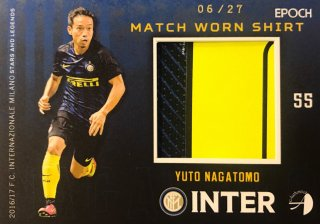 2016/17 EPOCH/AUTHENTICA INTER Match Worn Shirts Yuto Nagatomo【27枚限定】/ MINT新宿店 半田乃様