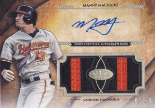 2017 Topps Tier One Manny Machado Patch & Auto 25枚限定 ポニーランド KK様
