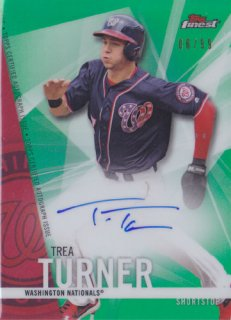 2017 Topps Tier One Trea Turner Green Auto 99枚限定 ポニーランド 三様