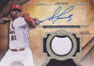 2017 Topps Museum Collection Alex Reyes Jersey Auto 75枚限定 ポニーランド 三様
