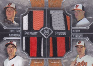 2017ToppsMuseumCollection ZachBritton/DylanBundy/KevinCausman/MattWieters クワッドパッチ99枚限定 ポニーランドAB様