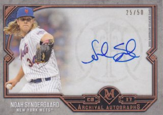 2017 Topps Museum Collection Noah Synderaard オート 50枚限定 ポニーランド H様