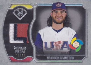2017 Topps Museum Collection Brandon Crawford WBC パッチ 75枚限定 ポニーランド H様
