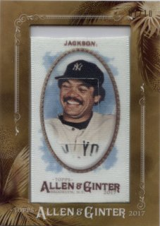 TOPPS 2017 ALLEN & GINTER Flamed Cloth Mini Silk Reggie Jackson 【1/10】 神田店 荒川悪々様