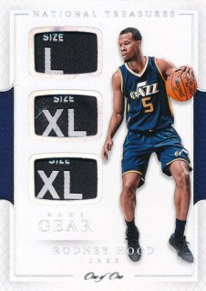 2016-17 PANINI NATIONAL TREASURES Triple Tag Patch Rodney Hood 【1枚限定】Rookie Star RS61様