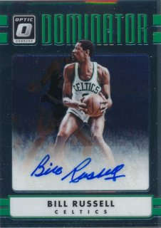 2016-17 PANINI DONRUSS OPTIC Dominator Auto Bill Russell 【25枚限定】Rookie Star RS64様