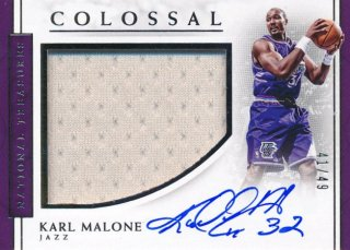 2016-17 PANINI NATIONAL TREASURES Jersey Auto Karl Malone 【49枚限定】Rookie Star RS70様
