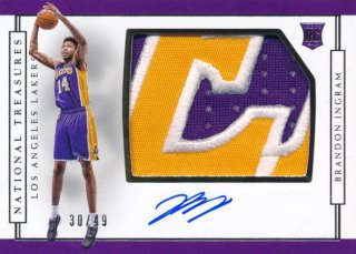 2016-17 PANINI NATIONAL TREASURES RC Patch Auto Brandon Ingram 【49枚限定】Rookie Star RS50様