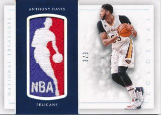2016-17 PANINI NATIONAL TREASURES NBA Logo Patch Anthony Davis 【3枚限定】Rookie Star RS61様