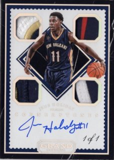 16-17 Panini Grand Reserve Quad Jersey Auto (Onyx) Jrue Holiday 【1of1】 MINT梅田店 BOWMANキング様