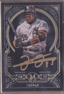 2017 Museum Collection Frank Thomas Flamed Auto Gold 10枚限定 ポニーランド YY様