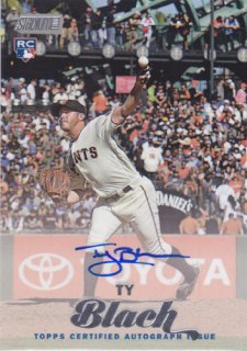 2017 Stadium Club Ty Blach RC Auto ポニーランド AB様