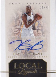 Kevin Durant Local Legends Auto 25枚限定 2016-17 Panini Grand Reserve ポニーランド 匿名様