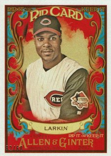 2017 TOPPS ALLEN & GINTER Rip Cards Barry Larkin【60枚限定】 / MINT新宿店 Tony様