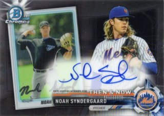 2017 Topps Chrome Bowman Then & Now Autograph  Noah Syndergaard 【50枚限定】 MINT梅田店 マリス様