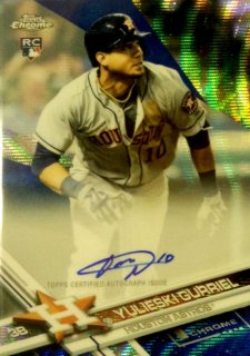 2017 TOPPS CHROME Rookie Autographs Blue Wave Refractor Yulieski Gurriel【75枚限定】 / MINT新宿店 ぐりとぐら様