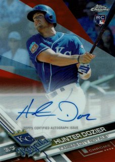 2017 TOPPS CHROME Rookie Autographs Red Refractor Hunter Dozier【5枚限定※ラストNo.!!】 / MINT新宿店 ヤマダ様