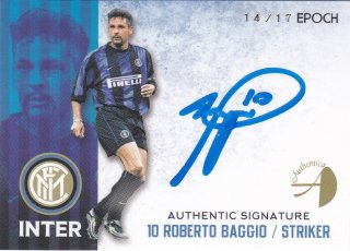 2016/17 EPOCH/AUTHENTICA INTER Authentic Signatures ROBERTO BAGGIO【17枚限定】/ ミント横浜店 MATHY様