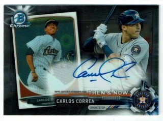 2017 Topps Chrome Then & Now Autograph Carlos Correa【50枚限定】/MINT渋谷 Bellingerが欲しかった様