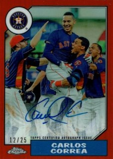 2017 Topps Chrome 1987 Topps Autographs Orange Refractor Carlos Correa 【25枚限定】/MINT渋谷 渡辺マリナーズ様