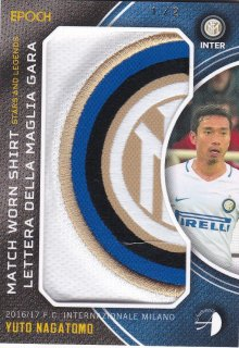 2016/17 EPOCH/AUTHENTICA INTER Match Worn Shirts EMBLEM YUTO NAGATOMO【2枚限定】/ ミント横浜店 DSKY様