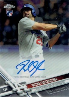 2017 TOPPS CHROME Rookie Autograph Rob Segedin / MINT立川店 幕張大好き様