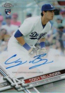 TOPPS2017 TOPPS CHROME Refractor Rookie Autograph Cody Bellinger 【499枚限定】 神田店 福島の鷹様