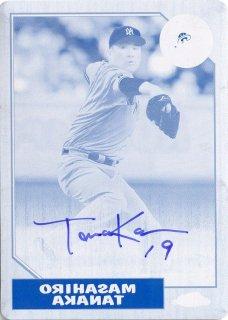 2017 Topps Chrome 1987 Baseball Autograph (Printing Plate) Masahiro Tanaka 【1of1】 MINT梅田店 ボウマンキング様