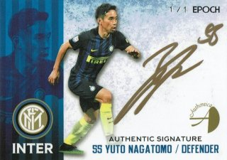 2016/17 EPOCH/AUTHENTICA INTER Authentic Signatures Yuto Nagatomo【1of1!!】/ MINT新宿店 イチカワ様