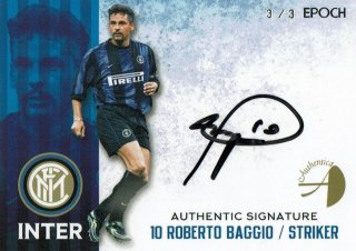 2016/17 EPOCH/AUTHENTICA INTER Authentic Signatures Roberto Baggio【3枚限定※Last No.!!】/ MINT新宿店 ねりまつ様