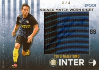 2016/17 EPOCH/AUTHENTICA INTER Signed Match Worn Shirts Yuto Nagatomo【4枚限定】/ 福岡店 ワイ様